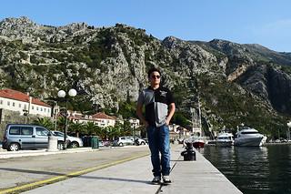 Walking at Kotor's Port