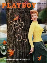 Barbara Cameron, Playboy, November 1955 (Tom Simpson) Tags: barbaracameron playboy 1955 fall 1950s sweater boobs girl autumn vintage playmate redhead
