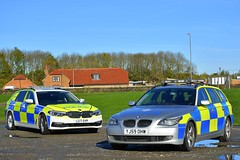 LC17 OYP & YJ59 OHW (S11 AUN) Tags: north yorkshire police bmw 530d auto estate anpr traffic car rpu roads policing unit nyp rpg group 999 emergency vehicle yj59ohw demo demonstrator lc17oyp