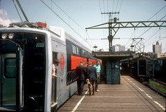 IC old meets new at 57th St 1971 (jsmatlak) Tags: chicago illinois central electric railway ic train