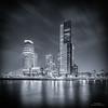 Rotterdam (Peet de Rouw) Tags: rotterdam wilhelminapier skyline wpc montevideo rijnhaven night nacht blackandwhite zwartwit peetderouw denachtdienst netherlands canon5dmarkiv