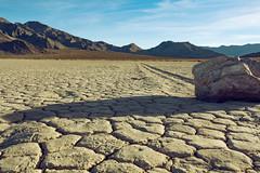 Nature's Racetrack (matthewkaz) Tags: theracetrack racetrack racetrackplaya stone drylake sailingstone mountains deathvalley desert california inyocounty inyoumountains sky clouds 2014