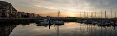 Puerto deportivo. Puesta de sol. Gijón. (David A.L.) Tags: asturias gijón puestadesol puertodeportivo mar agua barco barcos ocaso panorama panorámica