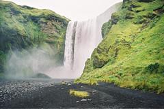 Iceland Adventures ! (Hëllø i'm Wild) Tags: analog film 35mm iceland icelandadventures travel trip nature outdoor adventures hike olympusom10 lomographycolornegative400 skógafoss waterfall