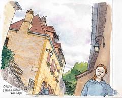 St Amand de Coly , l'hôtel de l'Abbaye (Cat Gout) Tags: saintamanddecoly rue eu sketch dordogne périgord village