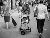 These n'That n'Those (Tom Levold (www.levold.de/photosphere)) Tags: fujixpro2 paris street sw bw father daughter buggy vater tochter