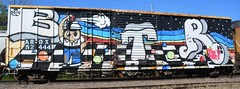 BTR 2014 (rabidscottsman) Tags: scotthendersonphotography graffiti railroad railroadgraffiti btr 2014 bench benched benching fr8 train mn minnesota northfieldminnesota ricecountyminnesota face paint spraypaint rr paintedsteel rollingart abox 52 444 sunday weekend nikon nikond7100 d7100 tamron tamron18270 18270 socialmedia usa unitedstatesofamerica