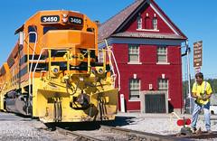 Shortline Railroader (DJ Witty) Tags: emd dieselelectric freight locomotive railroad rr marylandmidland sd402 sd45 unionbridge maryland usa
