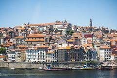 Oporto (javier_hdez) Tags: hanway porto oporto verano atardecer puente viajar turismo barrios barcos cielo bote agua marrío litoral mar barco ciudad edificio río carretera