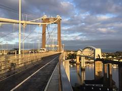Tamar bridges (Tripod Ape) Tags: cyclecommuting rivertamar sunset cornwall devon suspensionbridge tamarbridges tamar