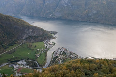 Aurland from High Above (slackbits) Tags: norway aurlandsfjorden aurland stegastein scandinavia2017