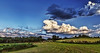 IMG_4135-38P2tzl1scTBbLGER (ultravivid imaging) Tags: ultravividimaging ultra vivid imaging ultravivid colorful canon canon5dmk2 clouds sunsetclouds scenic evening sunsetlight twilight trees landscape sky vista rural countryscene pennsylvania pa panoramic painterly balesofhay latesummer greenscene