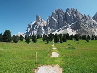 Südtirol - Blick auf die Geislerspitzen