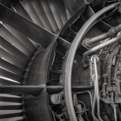 HIGH-BYPASS TURBOFAN (Jeff D Welker) Tags: highbypass turbofan hasselblad tucson arizona zeissplanarf35100mmcf 501cm ilfordfp4 pimaairspacemuseum
