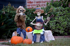 Fall and Halloween (The Old Texan) Tags: music display yard halloween