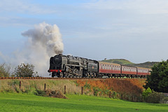 Windswept (Treflyn) Tags: br standard 9f 92203 hill sheringham golf course timeline events tle photo charter windswept