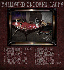 HALLOWED Snooker Gacha - only at COSMO event 23 october 2017 (MyBOXiD) Tags: cosmopolitan event secondlife sl ad