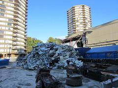 IMG_4378 Demolition of the Safeway on Davie Street (vancouverbyte) Tags: vancouver vancouverbc vancouvercity