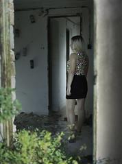 Am I here alone?! (zoltannagel) Tags: mamiya 645 super sekor c 80mm f 19 fuji pro 160 ns color negative film tetenal colortec c41 home development epson v600 model bernadett abandoned place mystery