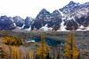 Eiffel Lake (Edna Winti) Tags: ednawinti alberta eiffellake banffnationalpark valleyofthetenpeaks larches fall autumn