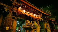 Good Night - NanYao Temple - 2 (葉 正道 Ben(busy)) Tags: changhuacounty taiwan 人 people mazu 媽祖 台灣 彰化 南瑤宮 縣定古蹟 historicalsites 古蹟 temple nanyaotemple