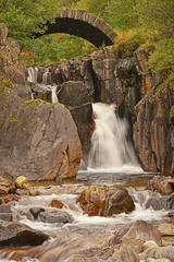 Go with the Flow.. (Harleynik Rides Again.) Tags: waterfall rocks bridge highlands glenshiel scotland harleynikridesagain nikond810