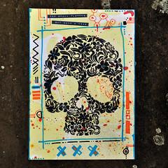 Flower power (id-iom) Tags: aerosolpaint art arts brixton cool dayofthedead england flower graffiti halloween head hoptunaa idiom london paint paintmarker power skull spraypaint stencil uk urban vandalism