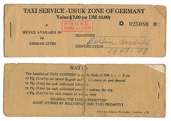 Berlin Airlift taxi coupon booklet (blueberry_paula) Tags: wwii ww2 airforce berlinairlift 1948 1949 postwar europe