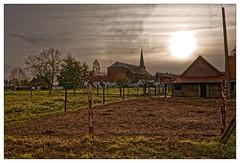 L'envers du décor (Jean-Marie Lison) Tags: eos80d sigmaart wodecq village église coucherdesoleil