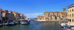 Chioggia is a fishing port situated on a small island (B℮n) Tags: isolasandomenica chioggia veneto lagoon island cathedrale fishmarket harbor fishing port pace life italië italia italy ronams clodia seafood panorama panoramico boat ships tour locals canals boats unspoiled bridgde town colors tourism vacation holiday summer architecture historic authentic saint domenico 50faves topf50 100faves topf100