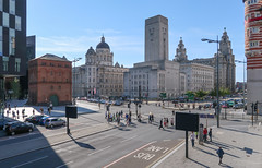 A numerous pedestrians area in Liverpool sun. (Tim Kiser) Tags: 2017 20170809 a5036road a5039road august august2017 britishlandscape cunardbuilding england englandlandscape englishlandscape georgesdockbuilding georgesdockventilationtower georgesdockventilationandcontrolstation goree greatbritain greatbritainlandscape img3837 jamesstreet liverpool liverpoolengland liverpoolcitycenter liverpoolcitycentre liverpoollandscape liverpoolstreetscape merseyside northwestengland pierhead pierheadbuildings portofliverpoolbuilding queenswaytunnel royalliverbuilding strandstreet thestrand uk unitedkingdom buildings buslane cars centralbusinessdistrict citycenter citycenterlandscape citycentre citycentrelandscape dome domedbuilding downtown downtownbuildings downtownintersection downtownlandscape intersection intersectionlandscape landscape northernengland northwesternengland numerouspedestrians pedestrians people roadmarkings streetscape sunny traffic urbanlandscape txtchg