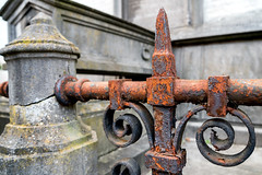 Old and Rusty (devos.ch312) Tags: graveyard gravestone tomb textured weathered rusty fencedetails sony a7rii a7rm2 ilce7rm2 fe2470mmf4zaoss christinedevos meerbekeninove belgium