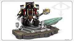 Warmaster Horus (Faber Mandragore) Tags: wip lego moc sci fi mecha warhammer 40k space marine primarchs chaos terminator horus heresy warmaster lupercal