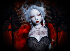 Queen of hearts (ZameNezrulain (:Etherion:)) Tags: hearts queen mesh bento avi avatar zame photo photography photoshop portrait people alice wonderland cureless tableauvivant izzies demon zenith chinese asian japanese catwa hanako maitreya lara kawaii spooky halloween costume art digital virtual girl woman female collabor88 c88 secrethideout secret hideout moremore fallengods gods fallen doll kawaiiproject okkbye lithe