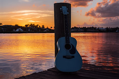 into the great wide open (Laurarama) Tags: guitar dock water sunset tp odcisolated