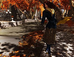 Autumn Wind (kare Karas) Tags: woman lady femme girl girly chic elegant autumn wind colors outfit hud variety beauty pretty cute sensual city outdoors event coat gloves heels tights scarf ghee designershowcaseevent