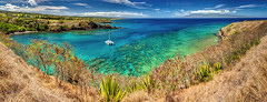 Honolua Bay Panorama (PIERRE LECLERC PHOTO) Tags: honoluabay bay beach maui hawaii landscape nature sea surfspot snorkeling calm boat diving turquoisesea water turquoise panoramicview scenic viewpoint overlook travel hawaiianislands molokai boattours attractions adventure pierreleclercphotography canon5dsr tropical paradise reef coral fish