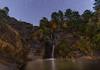 Bajo las estrellas. (Amparo Hervella) Tags: cascadadelríoarbillas ávila españa spain estrella noche nocturna naturaleza lightpainting árbol color d7000 nikon nikond7000 comunidadespañola