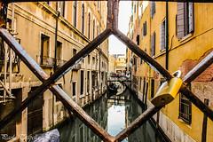 Venezia (paolotrapella) Tags: venezia italia canon canale acqua struttura case rete lucchetto