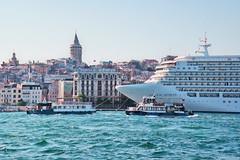 Blue Bosphorus (Arch_City_Visuals) Tags: istanbul cruise galata tower karaköy liman boğaz kule deniz architecture scene history travel voyage