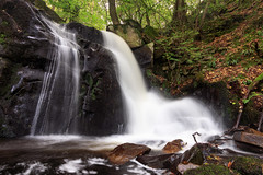 Double Waterfall (Howie Mudge LRPS BPE1*) Tags: water waterfall cascade river longexposure rocks boulders trees woods woodland forest outdoors outside travel travelling traveller hiddengem hardtogetto arthogfalls falls leaf leaves autumn autumnal october 2017 arthog gwynedd wales cymru uk canon canoneos80d 1018mm