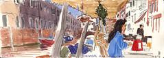 171009venezia03 (Vincent Desplanche) Tags: venise venezia sketching sketch croquis urbansketchers italia italy aquarelle watercolor matiteinviaggio seawhiteofbrighton seawhitesketchbook