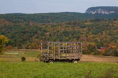 Old Hay Wagon (jeffseverson) Tags: newpaltz wagon trailer haywagon field landscape newyork wood rural hay hudsonvalley upstateny