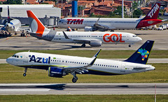 Busy SBFZ (LeoMuse747) Tags: azul linhas aéreas airbus a320251 neo pryrh gol boeing 7378eh 800 prgyd a321200 211 ptxph latam latambrasil brasil fortaleza pinto martins intl internatinal airport for sbfz leomuse747 nikon d5100 nikkor 70300mm vr lens camera dslr tmafortaleza landing airplane aeroplane aircraft airliner touchdown ceará ceara northeast brazil brazilian