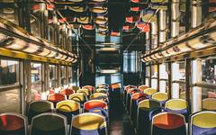 Repetitive days (nihilsineDeo) Tags: rer paris commute commuters train colours repeat texture seat wagon