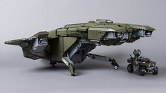 "D77H-TCI Pelican (from ""Halo 3"") (Velocites) Tags: halo 3 pelican warthog video games xbox moc lego unsc 343 bungie d77htci"