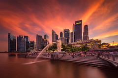 Festival of Lights (bing dun (nitewalk)) Tags: singapore cityscape sunset epic esplanade marinabay merlion tourism stb fullerton cbd laowa 12mm sony a7r