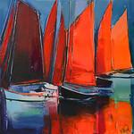 1993 - Les voiles rouges - 50x50