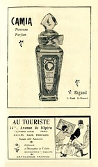 French advertisements: (painting in light) Tags: ad advert advertisement sell selling drawing art illustration prince wales theatre 1908 france french camia perfume rigaud paris scent