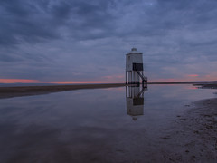 A touch of pink (Wizard CG) Tags: lighthouse burnhamonsea bristol channel low tide somerset long exposure burnham sun set sky cloud outdoor landscape shore seaside wide angle united kingdom south west england reflections sunset uk sand olympus world trekker water ngc